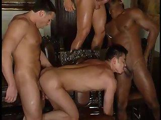 Anal,Big Cock,Domination,Interracial,Latinos,Threesome,Blowjob,Bareback,orgy,gay Hot threesoome...