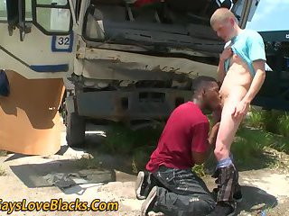 Nubian thug blows...