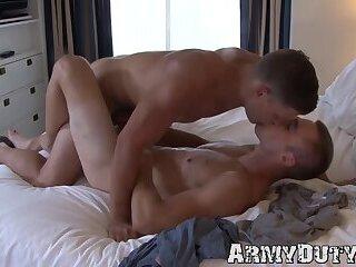 Masturbation,Rimming,Uniform,Blowjob,Bareback,muscle,gay,big dick,military,athletic,army,soldier,ArmyDuty,troop Two athletic...