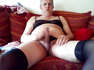Dad in lingerie...