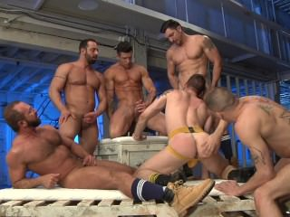 deepthroat;cock-sucking;face-fucking;blowjob;rimjob;ass-licking;muscle;tattoo;spanking;facial;group-sex;studs,Big Dick;Group;Gay PACK ATTACK 7...