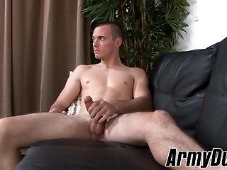 Masturbation,Solo,Big Cock,gay,jerking,big dick,military,army,ArmyDuty Military stud...
