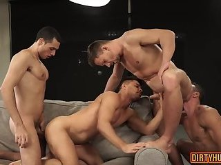 Anal,Party,gay,group sex,ass to mouth,muscle Muscle gay ass to...