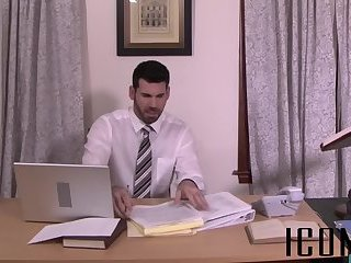 Anal,Hunks,Office,kissing,anal sex,hardcore,riding,dick riding,gay Caring man helps...