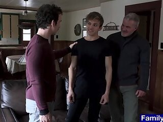 Anal,Mature,Threesome,Twinks,Blowjob,Bareback,daddy, old vs young,gay Stepdad and...