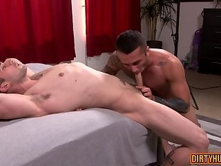 Tattoo,Blowjob,gay,studs,muscle Muscle gay anal...