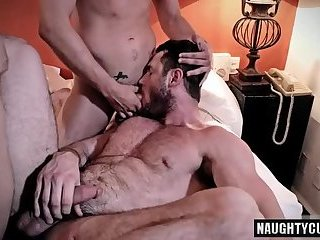 Anal,Threesome,Blowjob,gay,ass,group sex,fuck,muscled,friends Hairy gay...