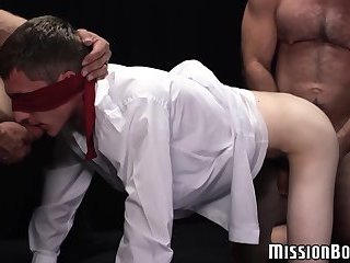 Masturbation,Threesome,Blowjob,Bareback,gay,twink,bigcock,bigdick,spitroast,blindfolded,bearded,MissionBoys Young virgin ass...