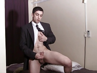 Amateur (Gay);Big Cocks (Gay);Masturbation (Gay);HD Gays wanking in a suit...