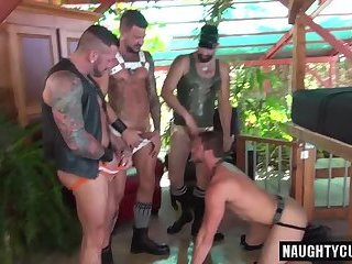 Anal,Bears,Fetish,Gangbang,Handjob,Mature,gay,ass,fucking,group sex,public,orgy,analsex Tattoo jock piss...