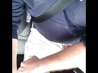 wanking in my car