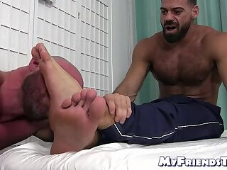 Cumshot,Masturbation,Feet,Massage,hunk,foot fetish,socks,beard,bald, feet licking, soles,MyFriendsToes,feet fucking,gay Bald gay...