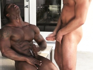 Blowjob (Gay),Gays (Gay),HD Gays (Gay),Hunks (Gay),Interracial (Gay),Muscle (Gay),Outdoor (Gay) Muscled black...