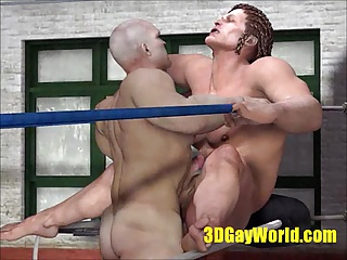 Bareback (Gay);BDSM (Gay);Daddies (Gay);Muscle (Gay);Wrestling (Gay);HD Gays Brutal fuck of...
