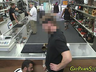 Voyeur,Blowjob,oral,bear,hidden cam,voyeurs,money,gay Real pawnshop...