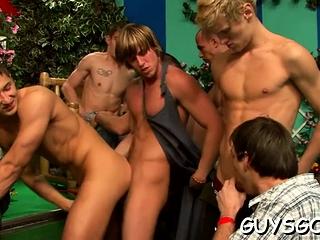 Big Cocks (Gay),Blowjob (Gay),Gays (Gay),Group Sex (Gay),Twinks (Gay) Chap sluts having...