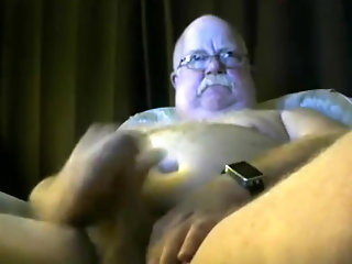 Amateur,Masturbation,Solo,Fat,Mature,daddy,glasses,gay old man spooge On...