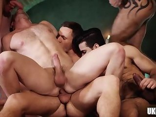 Anal,Domination,Threesome,gay,ass,group sex,muscle,hairy,hung Hot gay threesome...