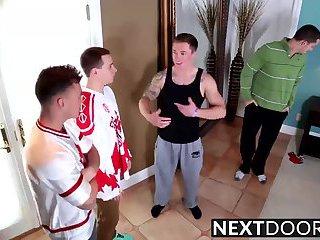 gay Four muscular...
