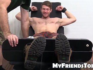 Bondage,Feet,Fetish,bdsm,foot fetish,brunette,tickle,dominating,gay Colby Keller with...