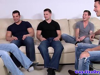 Dildo,Gangbang,Blowjob,oral,hunk,group sex,toys,brunette,gay Hunks in group...