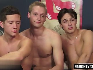 Threesome,Twinks,gay,group sex,pounding Hot gay threesome...
