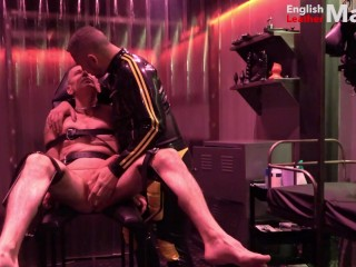 big-cock;cbt;torture;cock-and-ball;pain;impact-play;fetish;bdsm;rubber;master;slave;master-slave;dungeon;bondage;control;ball-busting,Daddy;Fetish;Big Dick;Gay;Rough Sex Tied slave has...