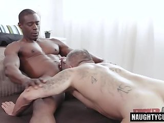 Anal,Cumshot,Ebony,Interracial,Rimming,gay,big dick,muscled Big dick gay anal...