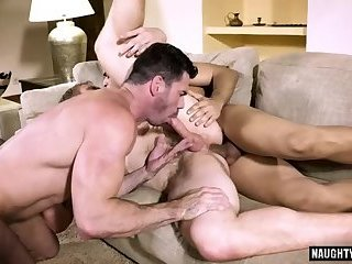 Anal,Hunks,Threesome,gay,facial,big dick,muscle, flip flop Big dick gay flip...