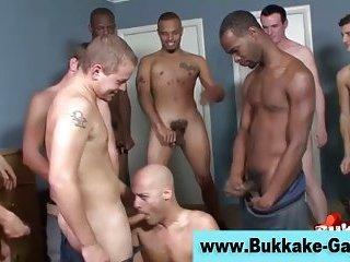 Interracial group...