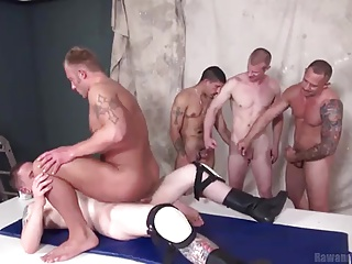 Bareback (Gay);Gay Porn (Gay);Group Sex (Gay);Muscle (Gay);Raw and Rough A Cum Load and a...