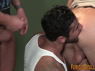 Anal,Cumshot,Big Cock,Body Builders,Hunks,Threesome,muscle,gay Buff gay hunk...