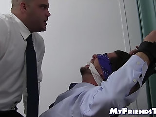 Bondage,Feet,hunk,foot fetish,socks,tickling,beard, blindfold, toes, soles,MyFriendsToes,Bare Feet,torment,gay Blindfolded and...