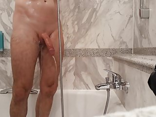 Man (Gay) daily milk shower