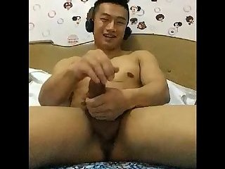 Amateur,Masturbation,Solo,Asian,Twinks,uncut,gay China Glasses...