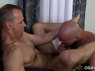 Mature,anal sex,hardcore,condom,big dick,facial hair,gay Damon...