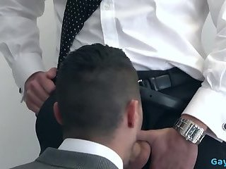 Domination,Hunks,Blowjob,Office,suit,gay Muscle gay anal...