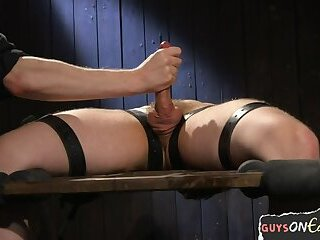 Bondage,Handjob,bdsm,muscle,hung,gay Edging BDSM...