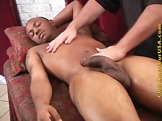 Ebony,Handjob,Massage,gay lad receives Massage
