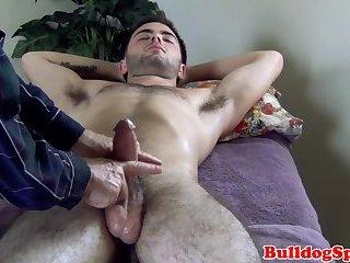 Cumshot,Masturbation,Massage,gay Massaged stud...