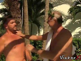 Anal,Cumshot,Interracial,Blowjob,gay,big dick,orgy,daddy,victorxxx,granpa Bearded mature...