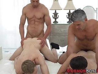 Cumshot,Bareback,gay Elders raw fuck...