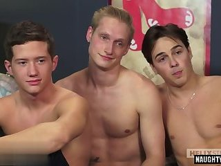 Twinks,gay,interview Hot gay threesome...