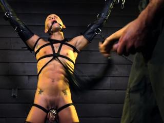 BDSM (Gay),Gays (Gay),HD Gays (Gay),Handjob (Gay),Muscle (Gay) Gagged stud...