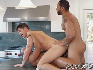 Anal,Big Cock,Interracial,Blowjob,gay,hunk,big dick,double penetration,muscle,black,bbc,hardcore gay,double anal,NoirXXX,Devin Franco Rich white gay...