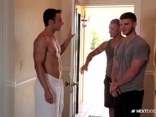 nextdoorbuddies;next-door-buddies;hunk;muscles;blowjob;anal;safe-sex;threesome;outdoors;rimming,Group;Gay;Public NextDoorBuddies...