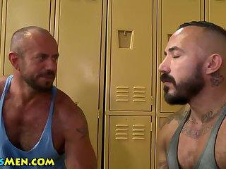 gay Hairy bear shower...