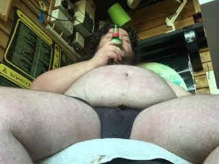 kink;fat;belly;beer;beer;belly;chub;bear;tubbs;bhm,Solo Male;Gay beer from below clip