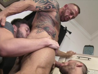 daddy;big-dick;rimming;gay-fuck;spit-roast;bareback;tattoo;double-blowjob;missionary;gay;raw-fuck;gay-kissing;gay-threesome;big-cock,Bareback;Daddy;Muscle;Fetish;Blowjob;Big Dick;Pornstar;Group;Gay;Hunks;Tattooed Men,Jack Andy;Scott Demarco Threesome With...
