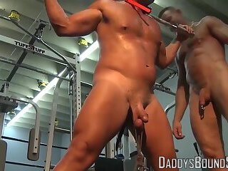 Dildo,Bondage,Domination,Fetish,bdsm,muscle,gym,toys,bound,slave,submissive,bald,maledom,cage, tied up,cock ring,DaddysBoundSubs,gay,HD Dominant hunk...